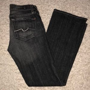 7 Seven for all mankind boot cut size 26 black